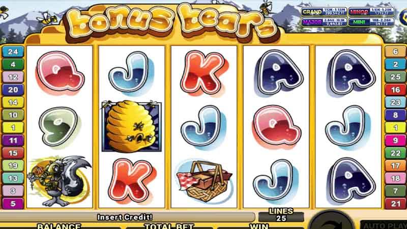 สล็อตมาใหม่ เกม Bonus Bears slot