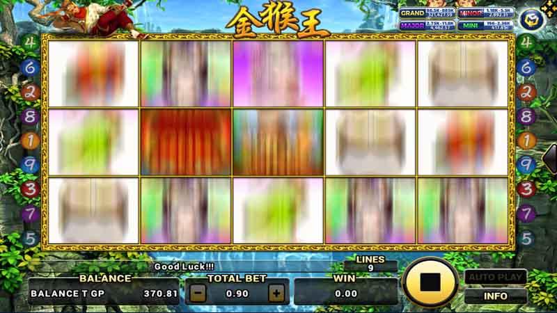 รูปแบบการเล่น สล็อต Golden Monkey King
