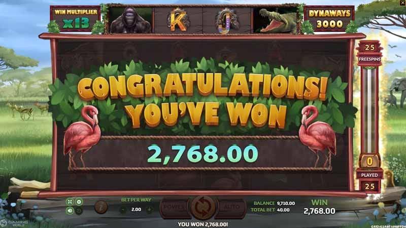 รางวัลใหม่ แตกหนัก Big Game Safari slot