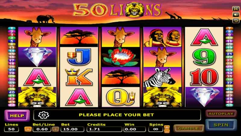 เล่นสล็อตเกม Fifty Lions slot