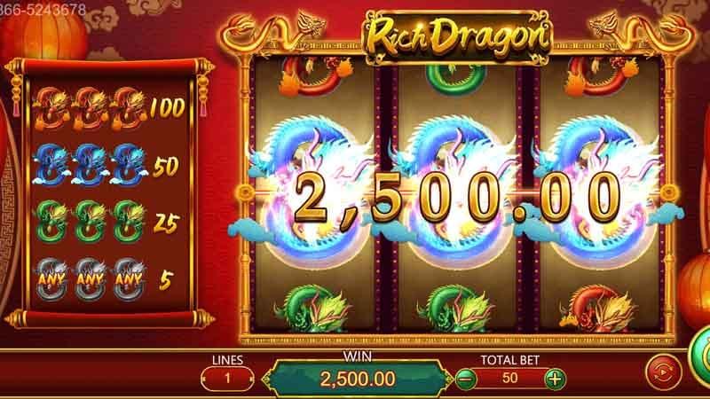 สล็อต รางวัลใหญ๋ Rich Dragon slot