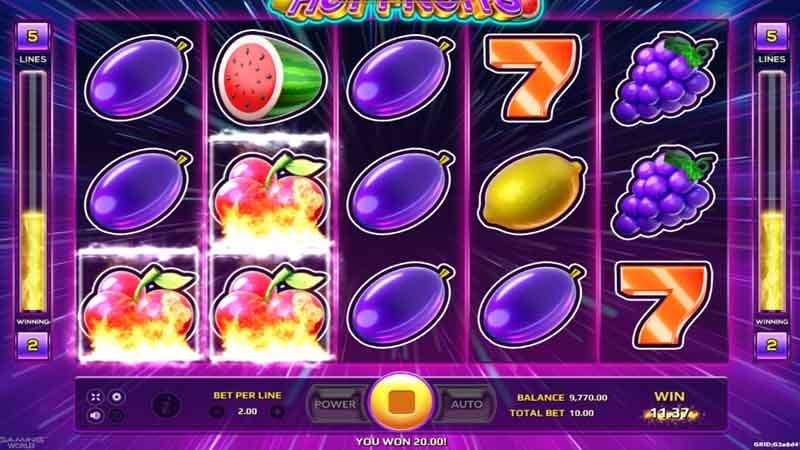 รีวิว สล็อตออนไลน์ แนะนำ hot fruits slot