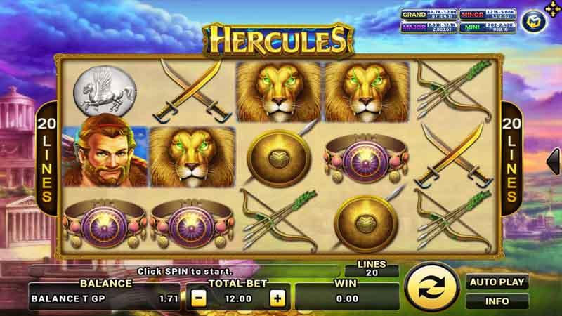 แนะนำสล็อตเกมใหม่ Hercules slot